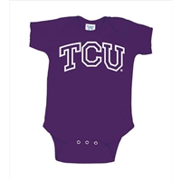 Texas Christian Horned Frogs NCAA Arch Logo Outline Purple Infant Creeper