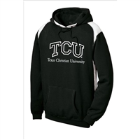Texas Christian Horned Frogs NCAA Black/White Hooded Sweatshirt (Medium)