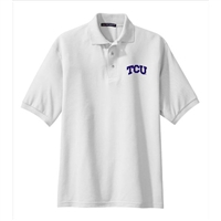 Texas Christian Horned Frogs NCAA Solid Arch Logo Silk Touch Sport Polo (2X Large)