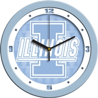 "Illinois Fighting Illini 12"" Wall Clock - Blue"
