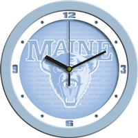 "Maine Black Bears 12"" Wall Clock - Blue"