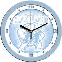 "Maryland Terrapins 12"" Wall Clock - Blue"