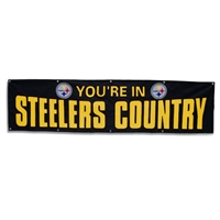 Pittsburgh Steelers You're In Steelers Country NFL 8' x 2' Giant Banner
