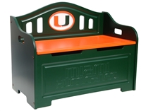 Miami Hurricanes Painted Bench