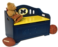 Michigan Wolverines Painted Bench
