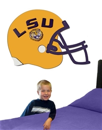 Louisiana State (LSU) Tigers 3D Football Helmet Art (no stickers)