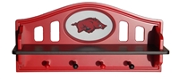 Arkansas Razorbacks Logo Shelf with Pegs