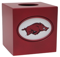 Arkansas Razorbacks Tissue Box Cover