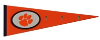 Clemson Tigers Pennant with Hooks