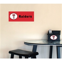 Fan Creations Texas Tech Red Raiders Team Name Plaque