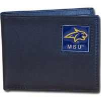 Montana State Bobcats Leather Bi-fold Wallet