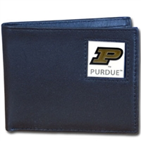 Purdue Boilermakers Leather Bifold