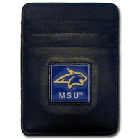 Leather Money Clip/Cardholder - Montana St. Bobcats