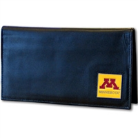 Deluxe College Leather Checkbook - Minnesota Golden Gophers
