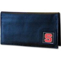 Deluxe College Leather Checkbook - North Carolina St. Wolfpack