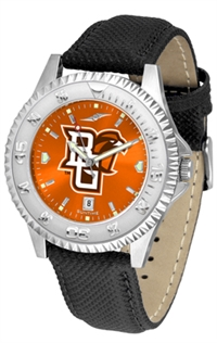 Bowling Green State Falcons Competitor AnoChrome Watch, Poly/Leather Band