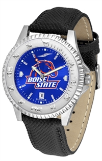 Boise State Broncos Competitor AnoChrome Watch, Poly/Leather Band