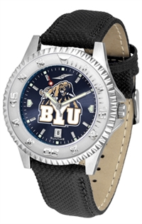 Brigham Young BYU Cougars Competitor AnoChrome Watch, Poly/Leather Band
