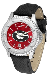Georgia Bulldogs Competitor AnoChrome Watch, Poly/Leather Band