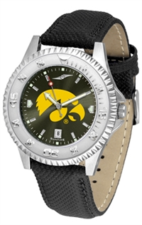 Iowa Hawkeyes Competitor AnoChrome Watch, Poly/Leather Band