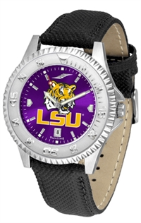 Louisiana State LSU Tigers Competitor AnoChrome Watch, Poly/Leather Band