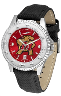 Maryland Terrapins Competitor AnoChrome Watch, Poly/Leather Band