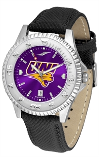 Northern Iowa Panthers Competitor AnoChrome Watch, Poly/Leather Band