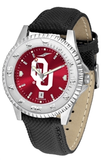 Oklahoma Sooners Competitor AnoChrome Watch, Poly/Leather Band