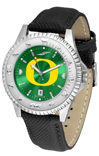 Oregon Ducks Competitor AnoChrome Watch, Poly/Leather Band