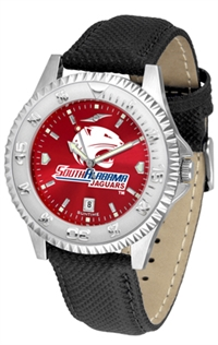 South Alabama Jaguars Competitor AnoChrome Watch, Poly/Leather Band