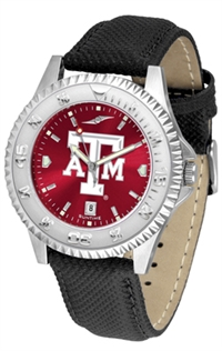 Texas A&M Aggies Competitor AnoChrome Watch, Poly/Leather Band