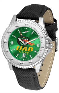 Alabama Birmingham Blazers Competitor AnoChrome Watch, Poly/Leather Band