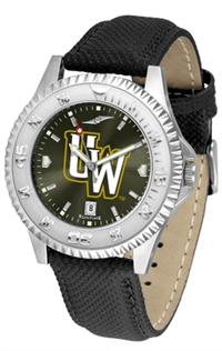 Wyoming Cowboys Competitor AnoChrome Watch, Poly/Leather Band