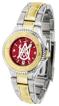 Alabama A&M Bulldogs Competitor Anochrome Dial Two Tone Band Watch - Ladies