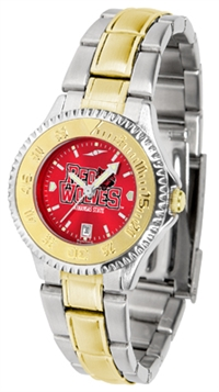 Arkansas State Red Wolves Competitor Anochrome Dial Two Tone Band Watch - Ladies