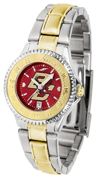 Boston College Eagles Competitor Anochrome Dial Two Tone Band Watch - Ladies