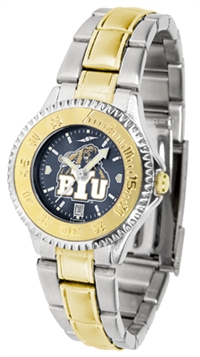 Brigham Young Cougars (BYU)  Competitor Anochrome Dial Two Tone Band Watch - Ladies
