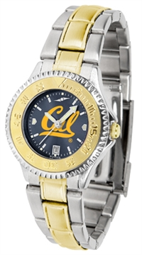 California Golden Bears Competitor Anochrome Dial Two Tone Band Watch - Ladies