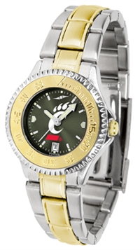 Cincinnati Bearcats Competitor Anochrome Dial Two Tone Band Watch - Ladies