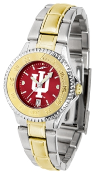 Indiana Hoosiers Competitor Anochrome Dial Two Tone Band Watch - Ladies