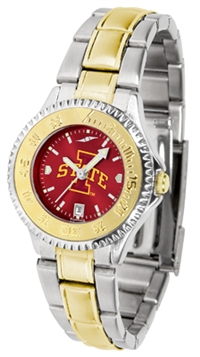 Iowa State Cyclones Competitor Anochrome Dial Two Tone Band Watch - Ladies