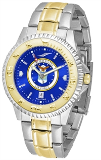 United States Air Force Competitor Anochrome Dial Two Tone Band Watch