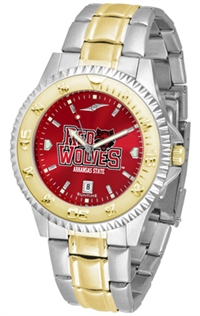Arkansas State Red Wolves Competitor Anochrome Dial Two Tone Band Watch