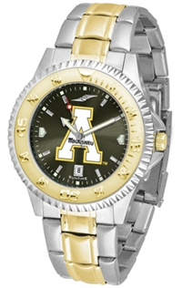 Appalachian State Mountaineers Competitor Anochrome Dial Two Tone Band Watch