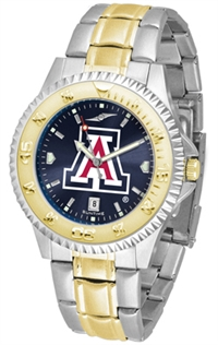 Arizona Wildcats Competitor Anochrome Dial Two Tone Band Watch