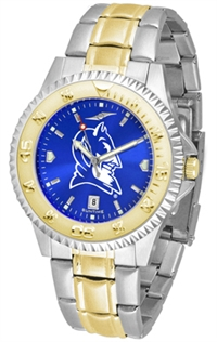 Duke Blue Devils Competitor Anochrome Dial Two Tone Band Watch