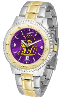East Carolina Pirates Competitor Anochrome Dial Two Tone Band Watch