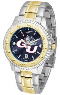 Gonzaga Bulldogs Competitor Anochrome Dial Two Tone Band Watch