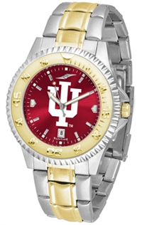 Indiana Hoosiers Competitor Anochrome Dial Two Tone Band Watch