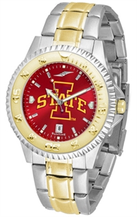 Iowa State Cyclones Competitor Anochrome Dial Two Tone Band Watch